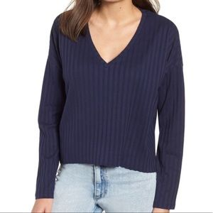 BP. From Nordstrom Wide Rib Crop Sweater S